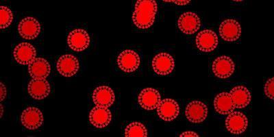 Dark red vector texture with disease symbols.