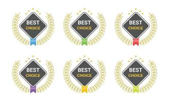 Best choice badge logo with modern icon vector
