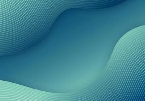 Abstract blue fluid wave gradient shape and lines template background vector