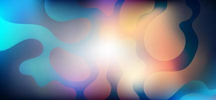 Abstract vibrant gradient blurred background with organic shape vector