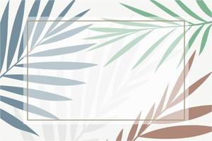 Rectangle frame on a metallic leaves background Vector