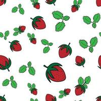 strawberry seamless pattern perfect for background or wallpaper vector