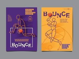 colección de baloncesto, diseño de diseño, banner deportivo. vector