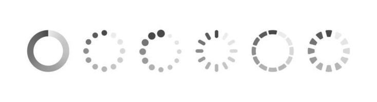 Reloading Loading and buffering vector icon set