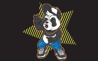 panda urban rocker vector