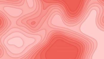 Abstract modern papercut background vector