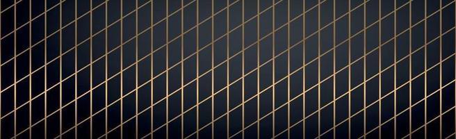 líneas doradas abstractas sobre un fondo negro - vector