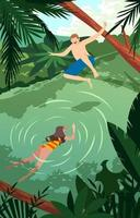 Play in Water during Summer vector