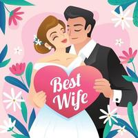 Husband and Wife in Love vector