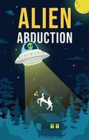 Alien Abducting a Cow vector