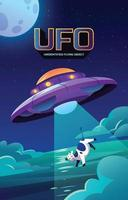 Ufo Abducted a Cow vector