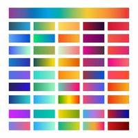 Trendy Beautiful Gradient Color Palettes vector