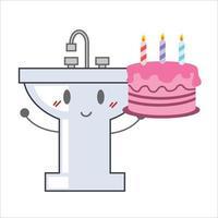 Sink Character Vector Template Design Illustration