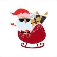 Santa Claus Character Merry Christmas Vector Template Design Illustration