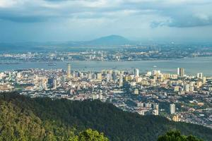 Skyline of George Town at Penang in Malaysia photo