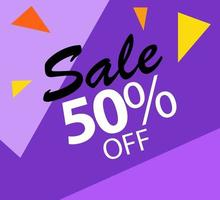 Discount Sale Label Vector Template Design Illustration