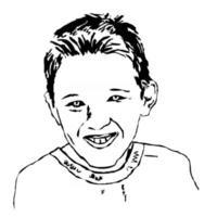 Portrait of a Smiling Boy vector