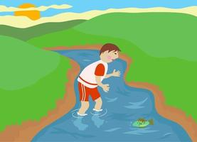 Discovering Nature Country Boy vector