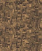 dibujado a mano de patrones sin fisuras con la gran ciudad de nueva york vector