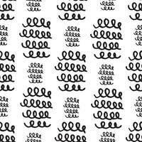 Seamless pattern Doodles texture elements. Vector hand drawn