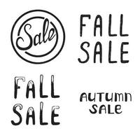 Autumn and Fall Sale. vector