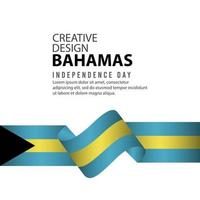 Bahamas Independent Day Poster Creative Design Illustration Vector Template