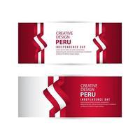 plantilla de vector de ilustración de diseño creativo de cartel de día independiente de perú