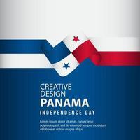 plantilla de vector de ilustración de diseño creativo de cartel del día independiente de panamá