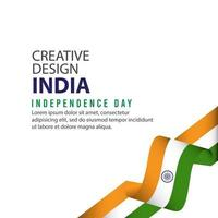 India Independent Day Poster Creative Design Illustration Vector Template