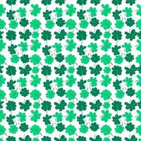 Clover Seamless pattern with trefoil and four-leaf. vector