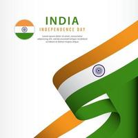 india Independence Day Celebration, banner set Design Vector Template Illustration