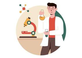 Laboratory Test Vector Illustration