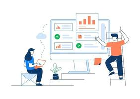 Better Workspace and Collaboration Vector Illustration