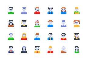 User Avatar Gradient Icon Set vector