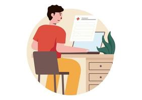 Patient Registration Vector Illustration