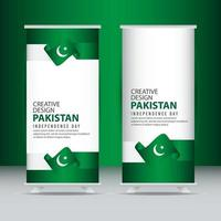 Pakistan Independence Day Celebration Poster Creative Design Illustration Vector Template