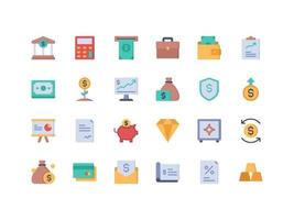 Finance and Accounting Flat Icon Set vector