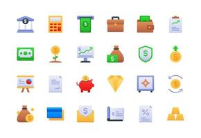 Finance and Accounting Gradient Icon Set vector