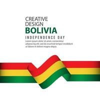 plantilla de vector de ilustración de diseño creativo de celebración del día de la independencia de bolivia
