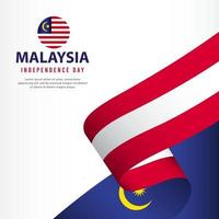 Malaysia Independence Day Celebration, banner set Design Vector Template Illustration