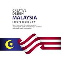 Malaysia Independence Day Celebration Creative Design Illustration Vector Template