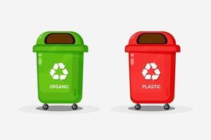 Recycle bin icon design vector