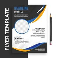 Free poster flyer pamphlet brochure cover design layout space for photo background, vector illustration template in A4 size