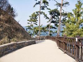 hermoso lugar en el templo de naksansa, corea del sur foto