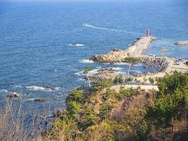 hermosa vista desde el templo naksansa, corea del sur foto