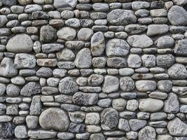 Grey stone wall as a background texture photo