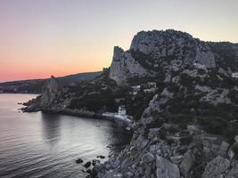 Beautiful rock near the Black sea. Crimea photo