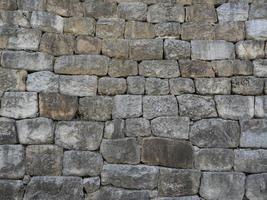 Texture, grey stone wall photo