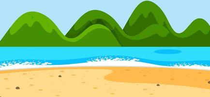 Empty beach landscape scene with mountains vector