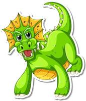 Fantasy Dragon cartoon character sticker vector